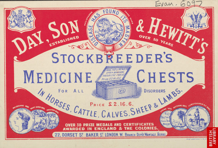 Advert For Day, Son & Hewitt's Stockbreeder's Medicine Chest